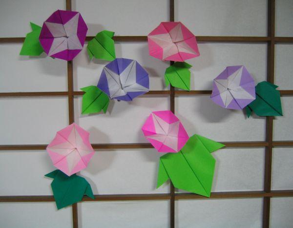 すべての折り紙 あさがお 折り紙 : 雪月花: 2009年7月