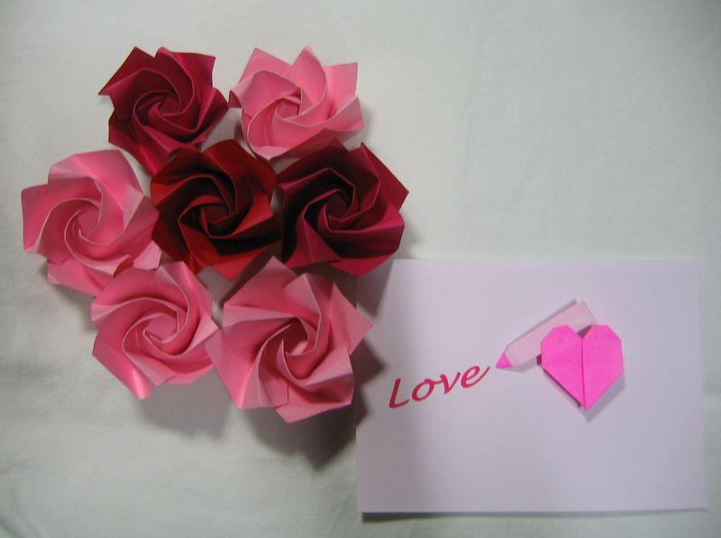 クリスマス 折り紙 : 花の立体折り紙 : kinmokusei-9.cocolog-nifty.com